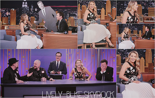 #  Interview  On July 15, 2016 Blake appeared on Tonight Show With Jimmy Fallon