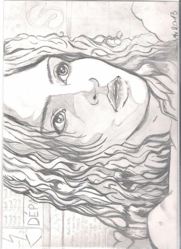 Portrait scanné