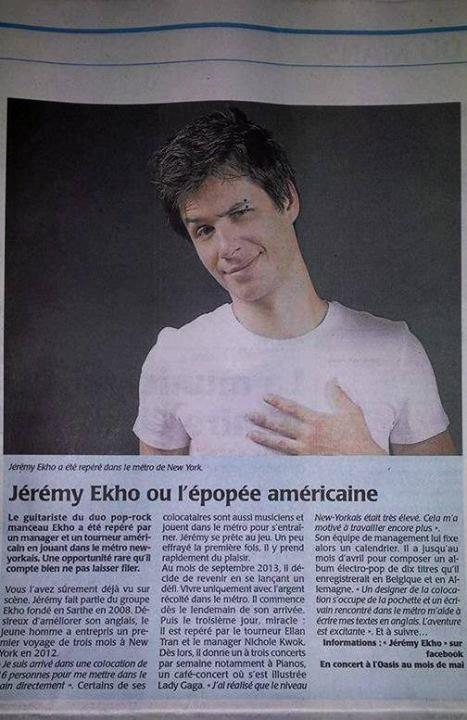Jeremy dans le journal de ce matin