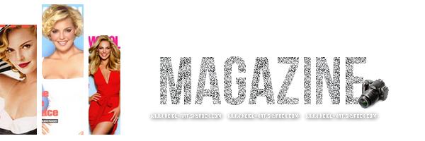 """_________Katherine est en photo de couverture du magazine « Good Housekeeping » de Septembre 2014 __________________________article traduit par mes soins merci de ne pas copié ! _______________________________________________________________________________________Katherine Heigl vit sur un ranch idyllique dans l'Utah avec son mari Josh Kelley, et leurs filles, Naleigh (5 ans) et Adalaide (2 ans). Dans le texte qui va suivre Katherine nous parle de sa vie ( Ces deux filles , sa carrière , son enfance... ) Malgré les horaires de travail intense, les deux entrées dans le processus d'adoption étranger est imprévisible. Leur bébé de Corée du Sud, qu'ils nommèrent Naleigh, arrivé en 2009, plus tôt que prévu. A ce moment là Katherine était plongée dans les trois mois de longues journées de travail sur un tournage de film à Atlanta (tournage de Grey's Anatomy). """"Je voudrais revenir à la maison en colère et frustré que j'avais raté tout avec mon enfant ce jour-là"""" dit-elle. """"Je n'ai pas eu la réveiller de sa sieste, ou faire l'heure du bain ou du coucher. J'aurais dû me faufiler dans sa chambre et l'embrasser quand elle dormait, en espérant ne pas la réveiller."""" """"Je sentais que mes priorités ont été trompés"""", dit-elle de cette période. «Je mettais beaucoup de temps et d'énergie dans tout mon travail, mais j'ai été élevé de croire que la famille vient en premier."""" Elle à donc quitté la série Grey's Anatomy en 2010. Elle a pris un congé et a passé quelques mois """"glorieux"""" à la maison, pour prendre soin de sa fille. En 2012, elle et Josh ont adoptés leur deuxième enfant, Adalaide, en Louisiane. Après ça, Katherine était une femme au foyer à temps plein. Encore une fois le bébé arrivé plus tôt que prévu, mais cette fois le calendrier de Katherine était plus souple.Katherine raconte les mois de l'enfance de Adalaide avec un penchant nostalgique. """"Naleigh partait à ses cours de ballet , je m'asseoie avec le bébé à la maison, et elle se couchait sur ma poitrine"""" dit-elle """"Je l'ai """