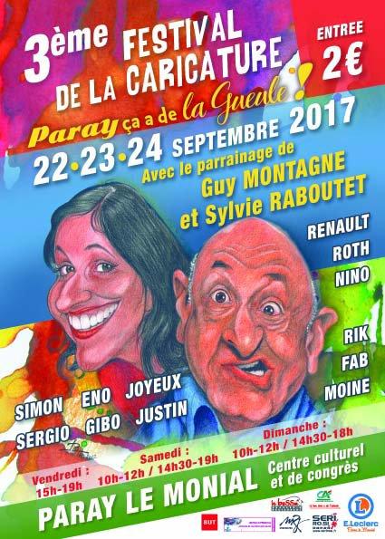 FESTIVAL DE LA CARICATURE PARAY LE MONIAL 2017