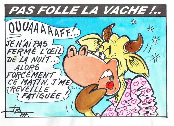 PAS FOLLE LA VACHE PAS PASSEE