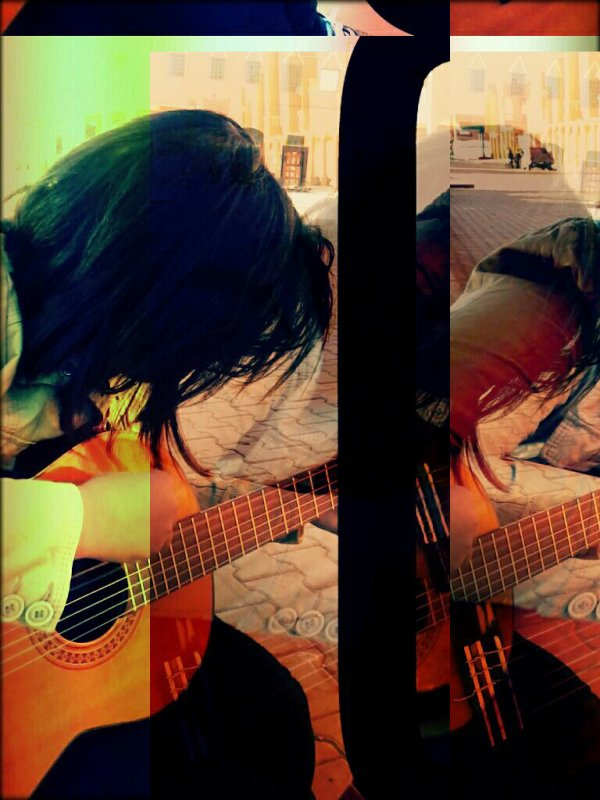 playing music ^_^ `