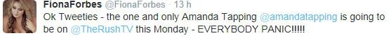 Twitter + Amanda dans THERUSHTV lundi + Photos AT7 Dimanche/Samedi + Photo d'Amanda dans la série Motive + Quelques photos #AT7 + Petit résumé AT7 + AT8 en avril 2015