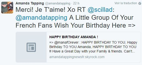 HAPPY BIRTHDAY AMANDA !