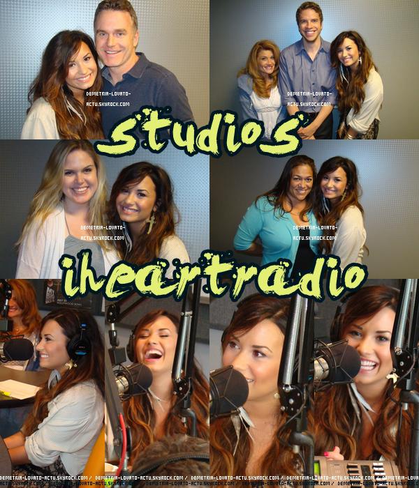 22/07/11 : Demi à visité les studios  iheartradio, Los Angeles. Vos avis ?  Demi avait l'air de bien s'amuser et est vraiment radieuse