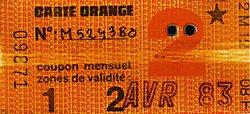 LA CARTE ORANGE RAPT