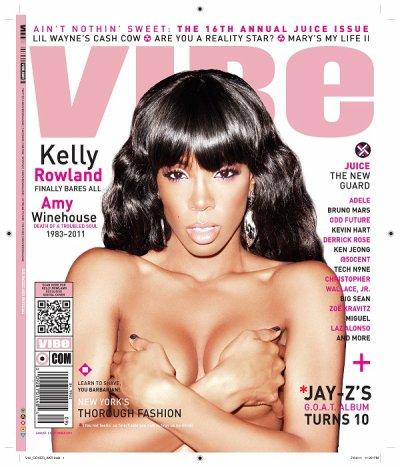 Kelly Rowland en couverture du magazine VIBE
