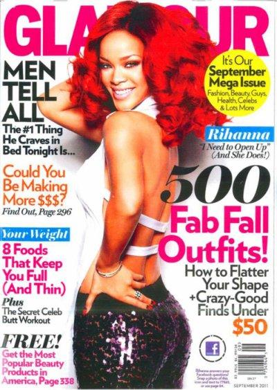 Rihanna en couverture du magazine GLAMOUR