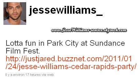 > 22 janvier 2011 : Jesse @The 2011 Sundance Film Festival !
