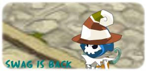 Tas d'os possédant un chapeau de vieux et une Berzeker avec une aura de puissance !