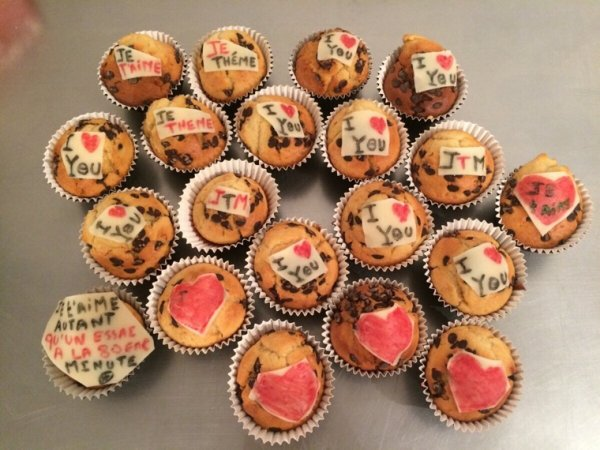 Petit cake pour la saint valentin tintin
