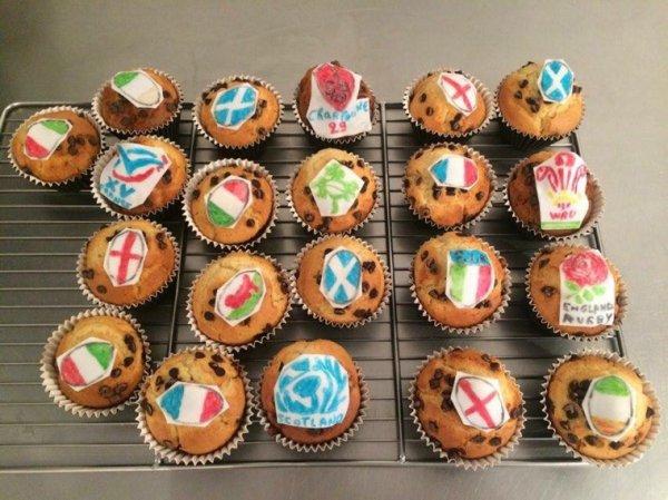 Cake avec deco du tournois des 6 nations