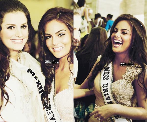 Voici de nouvelles photos des candidates lors de leur visite au maire de Sao Paulo. J'ai un gros coup de coeur pour la photo en gros plan de Johanna Solano, Miss Costa Rica, sinon j'adore les photos de Jimena !