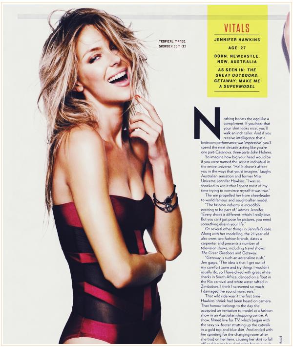 Jennifer Hawkins, Miss Univers 2004 enchaîne les magazines ! Pour FHM Summer 2011