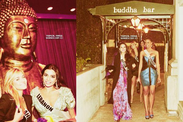 Toujours au Brésil, les Miss prennent du bon temps au Budha Bar.