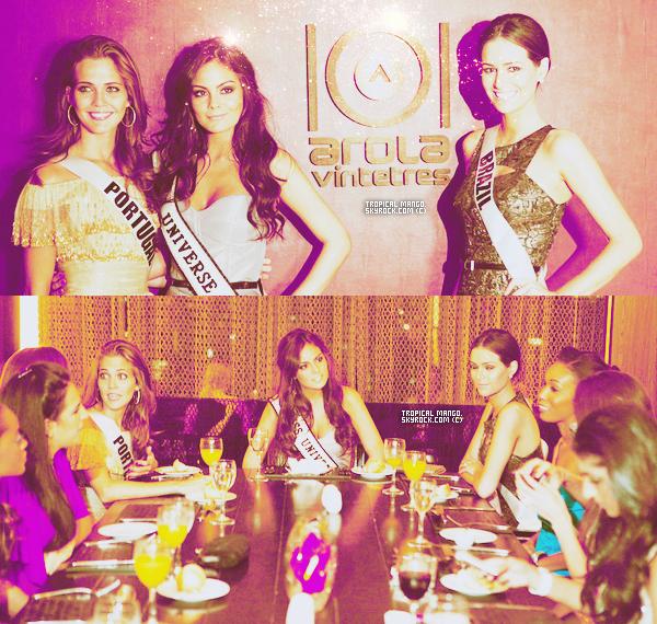 29/08/2011 : Toujours lors du voyage de préparation, les Miss se sont rendues dans un restaurant.