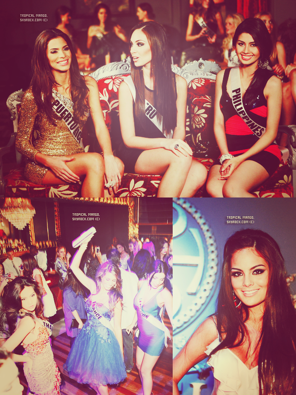 D'autres photos des Miss à Sao Paulo au Brésil (voyage de préparation à Miss Univers 2011) Les Miss se sont rendues dans une boîte de nuit. Laury Thilleman est superbe & en plus elle est favorite j'espère qu'elle sera élue ! Sur ces photos, j'adore Russie, Pays Bas, Finlande, Costa Rica, Roumanie par contre Miss Kosovo j'aimais bien avant mais plus trop maintenant.