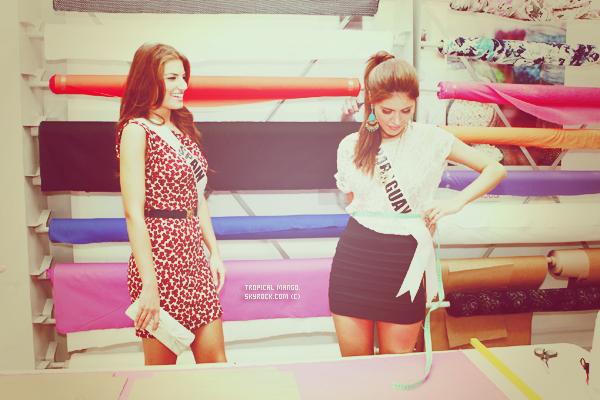 Voyage de préparation à Miss Univers 2011 - Les Miss à l'école de la mode.