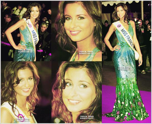 La belle Malika Ménard lors des Nrj Music Awards en janvier 2010. Top ou Flop ?