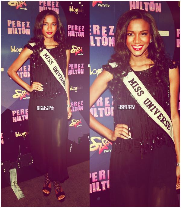 25/10/11 : Leila Lopes lors d'une soirée organisée par le blogueur Perez Hilton à New York.