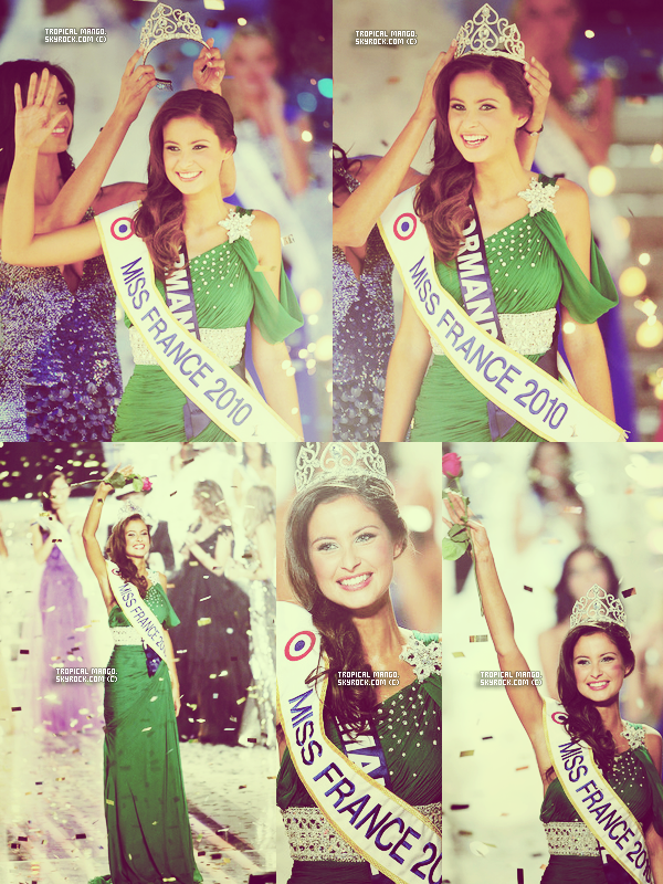 Juste parce que je ne m'en lasse pas ... Malika Ménard est couronnée Miss France 2010