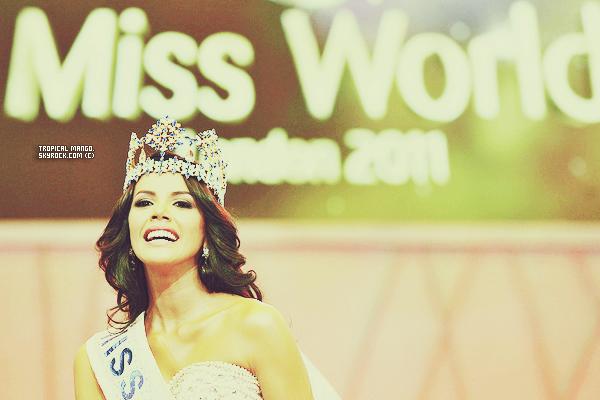 Couronnement de Miss Monde 2011, la belle vénézuelienne Ivian Sarcos à Londres. La cérémonie a été suivie par environ 1 milliard de téléspectateurs. Cette plantureuse brune d'1m79 est issue d'une famille nombreuse composée de pas moins de 13 frères et soeurs! A l'origine, les concours de beauté ne constituaient pas l'eldorado de cette jeune femme bercée par la religion depuis sa plus tendre enfance jusqu'à étudier plus tard pour devenir... none! Orpheline dès l'âge de 8, elle a en effet été élevée dans un couvent à Tachira, un état du Venezuela. Quand on lui demande quel est le moment de sa vie dont elle est le plus fière, Ivian Sarcos évoque le jour de sa communion où toute sa famille était réunie. (premiere.fr)Votre avis sr cette nouvelle Miss Monde ?