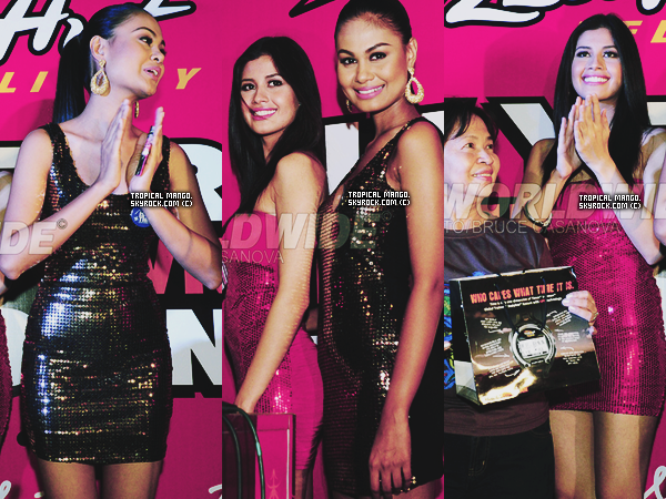 30/12/11 : Les Miss Philippines 2010 & 2011 étaient à un évènement pour le nouvel an. Venus Raj, avec la robe foncée à été 4ème dauphine de Miss Univers 2010 & Shamcey Supsup, 3ème dauphine de M.Univers cette année.