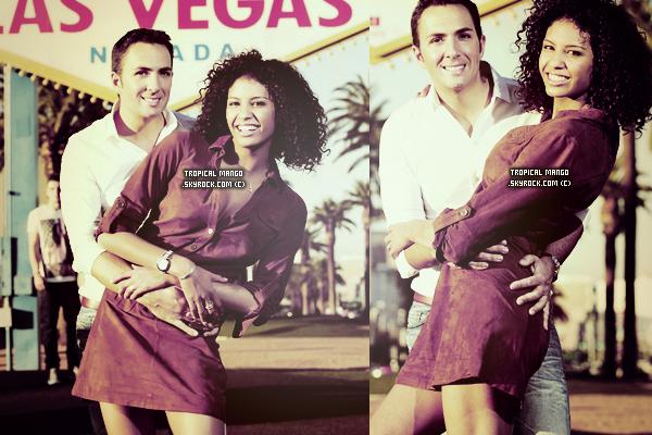 L'ex Miss France, Chloé Mortaud nous présente son nouveau compagnon à Las Vegas. Elle file le parfait amour aux États-Unis avec son compagnon français, le pilote et cascadeur Romain Thiévin. Source : Tvmag.