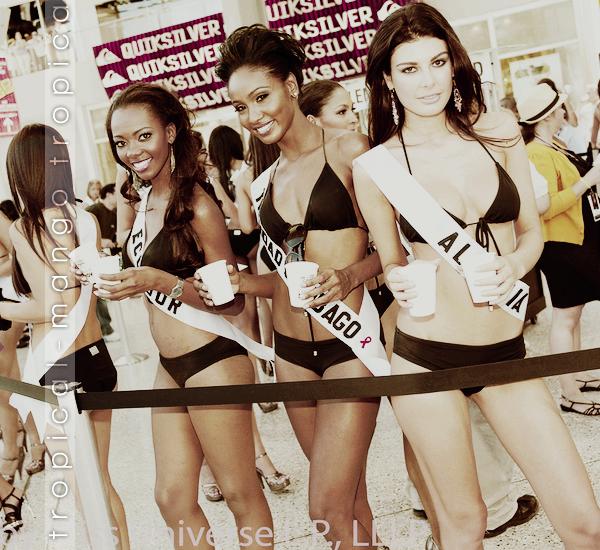 03/2012 : RETOUR SUR LE VOYAGE DE PREPARATION A MISS UNIVERS 2010 A LAS VEGAS.C'était le 11 août 2010, les Miss ont vendues de la limonade pour une oeuvre caritative. Je trouve l'Espagnole vraiment très belle !