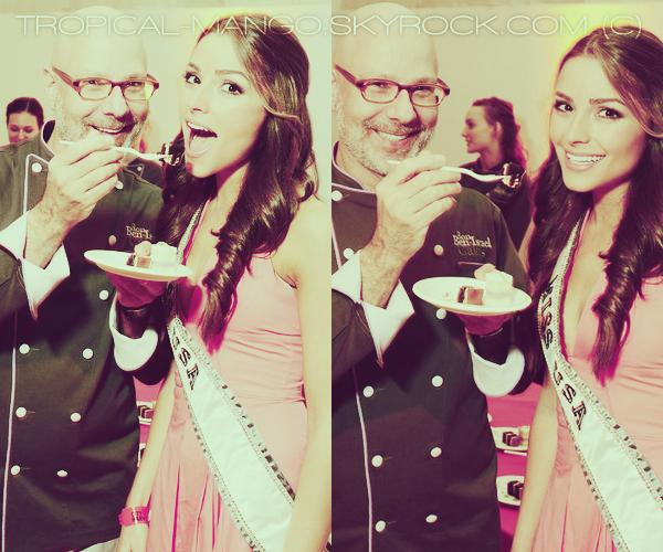 19/06/2012 - MISS USA, OLIVIA CULPO LORS DU COCKTAIL CITY HARVEST. + Une vidéoblog d'Olivia où elle raconte ses premières heures en tant que Miss Usa & une photo Twitter postée par Miss Alaska.