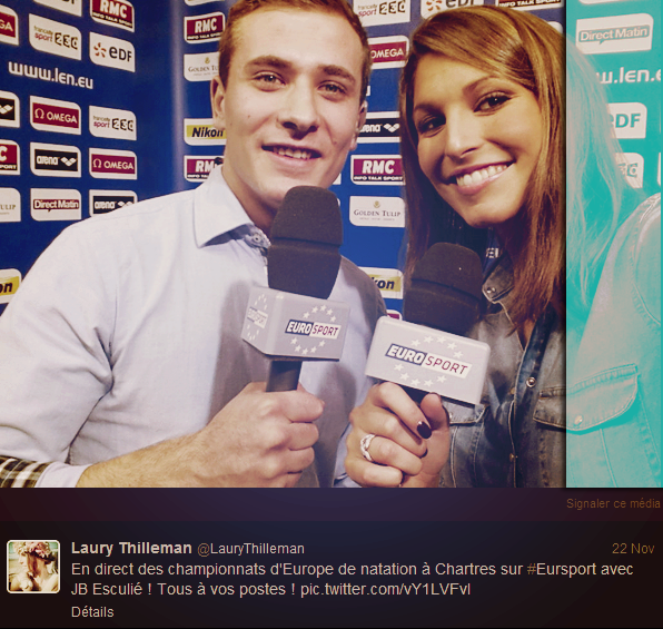 ◆ PHOTOS TWITTER DE LAURY THILLEMAN, MISS FRANCE 2011 POUR EUROSPORT. ◆