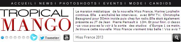 ◆ LES PREMIERES SORTIES DE MISS FRANCE 2013, MARINE LORPHELIN. ◆
