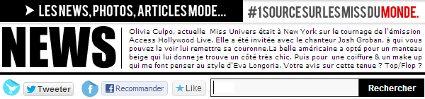 ◆ MISS UNIVERS SUBLIME A NEW YORK POUR ACCESS HOLLYWOOD. ◆