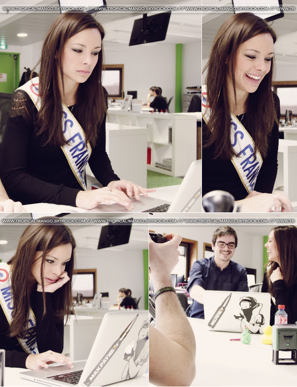 ◆ MISS FRANCE 2013 MARINE LORPHELIN REDACTRICE EN CHEF POUR MELTY.FR. ◆