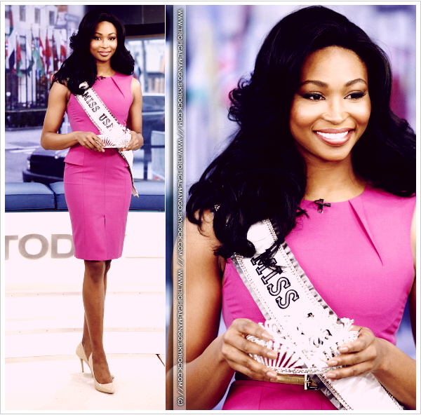 ◆ LA NOUVELLE MISS USA - NANA MERIWETHER LORS DU TODAY SHOW. ◆