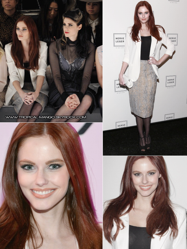◆ Miss Usa 2011, Alyssa Campanella à la Fashion Week à New York. ◆