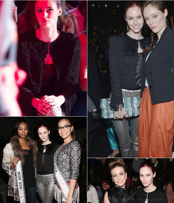 10/02 : Alyssa Campanella, Miss Usa 2011 s'est rendue au « Vivienne Tam Fashion Show » à New-York.