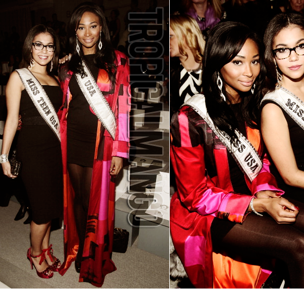 MISS USA ET MISS TEEN USA A LA FASHION WEEK LORS DU DEFILE ZANG TOI.