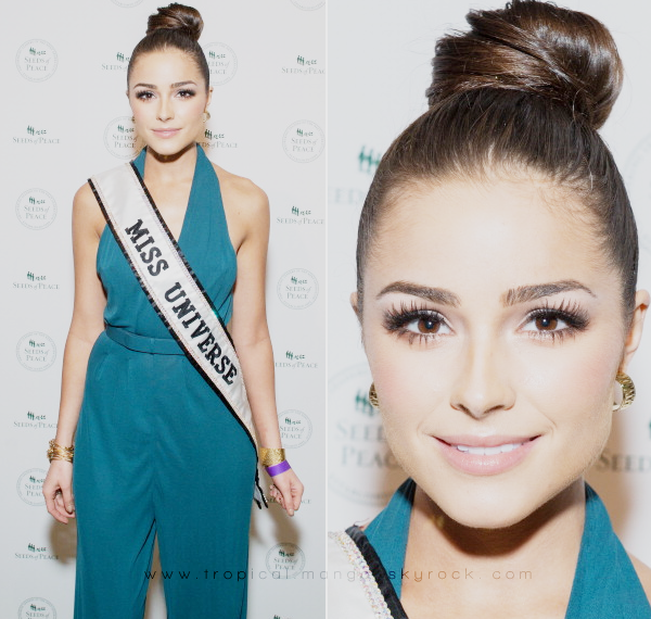 MISS UNIVERS, OLIVIA CULPO LORS DE L'EVENEMENT PEACE MARKET.