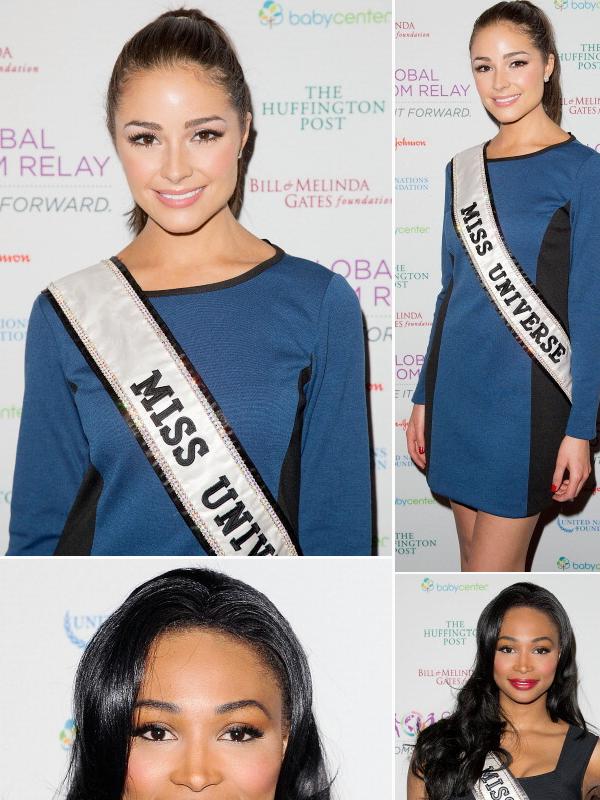 12/04/2013 : UNE NOUVELLE APPARITION POUR MISS UNIVERS ET MISS TEEN USA.Dommage que Nana Meriwether, Miss Usa n'était pas présente, vu qu'en général quand il y a Miss Teen, il y a Miss Usa aussi.