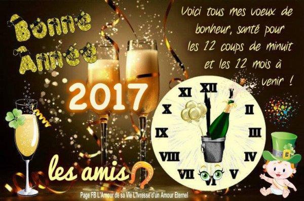 Je vous souhaite une Bonne et heureuse Année 2017