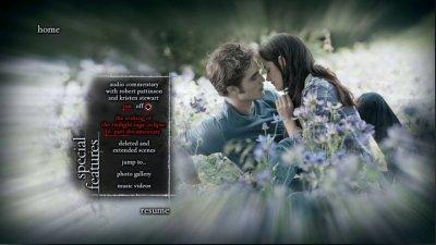 Twilight Chapitre 3 >Menu de DVD.