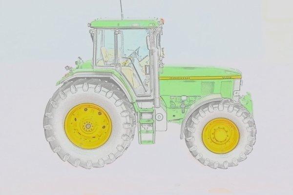 John deere 7810 miniature agricole - Dessin anime de tracteur john deere ...