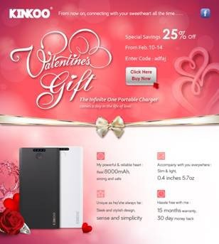 Power Bank Make Valentine's Day the Most Memorable Day of the Year