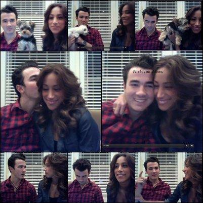 09/03 LiveChat avec Kévin et Danielle Jonas.    08/03 Joe en boite de nuit   09/03 Nick avec une fan à NashVille