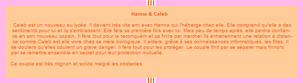 Hanna et Caleb