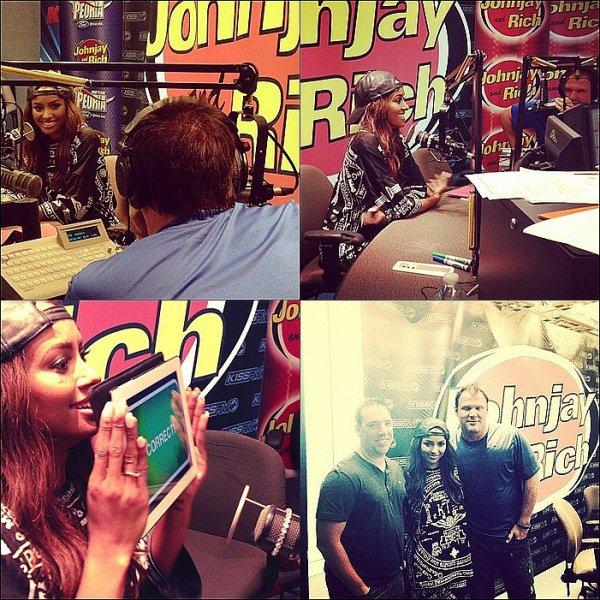 """Le 06 - 07 Août 2013: Radio Promo Tour de son nouveau single """"Power""""."""