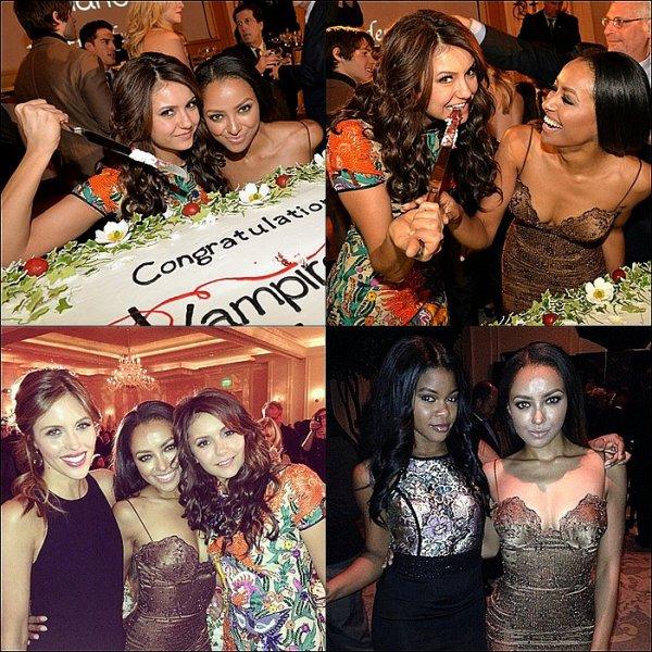 Le 10 Novembre 2013: à la fête du 100ème épisode de The Vampire Diaries.