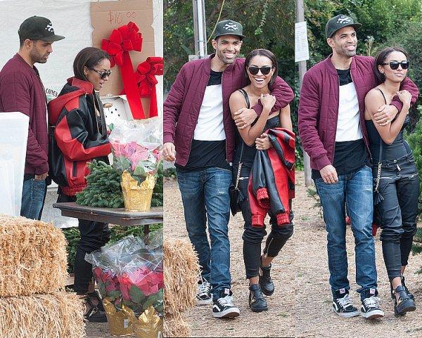 Le 04 Décembre 2013: Shopping de Noël avec son fiancé.